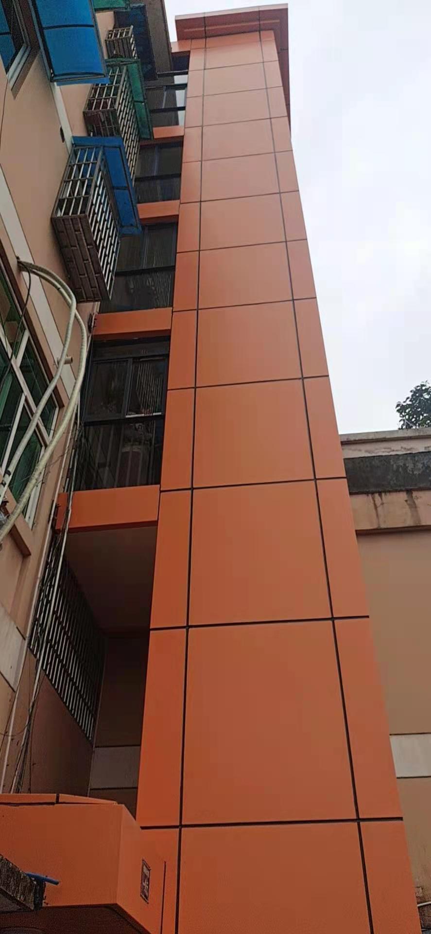 电梯铝板装饰,给加装电梯增添色彩
